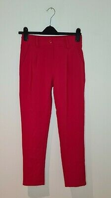 $ CDN12.96 • Buy Missy Empire Red Cigarette Style Trousers With Pockets - Size Small