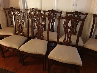 AU530 • Buy Dining Chairs, Set Of 8 Antique Style Chairs