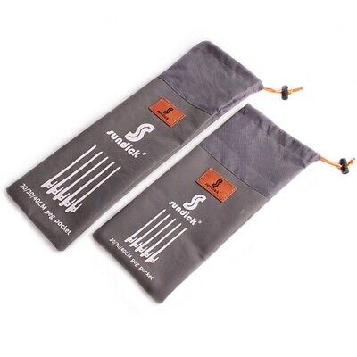 AU11.46 • Buy Outdoor Camping Tent Peg Ground Nail Stakes Storage Bag Pouch Sealing Waterproof