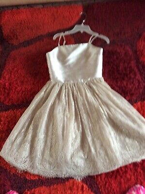 £24.99 • Buy Monsoon Girls Party Silver Dress Flower Girl / Prom / Party. Age 12-13yrs Bnwt