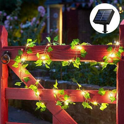 £12.59 • Buy 50/200 LED Solar Powered Ivy Fairy String Lights Garden Outdoor Wall Fence Light