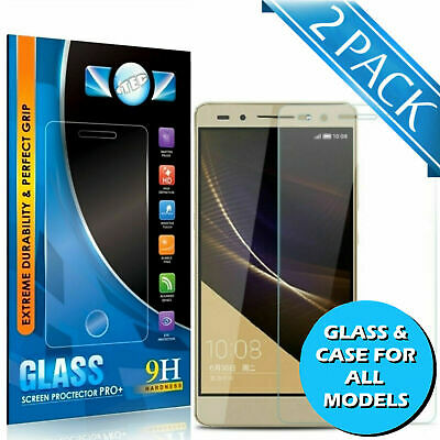 Tempered Glass Screen Protector / Case For Huawei P9 P10 Lite Mate 20 P20 Pro Uk • 2.99£