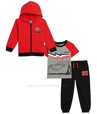 DISNEY CARS Size 2T-5T Toddler Boy 2 3 4 5 Set Hoodie Jacket Pant T Shirt Outfit • 18.17£