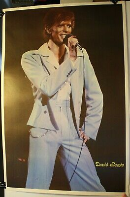 $10.95 • Buy Rare Vintage 1970's David Bowie 23 X 35  Poster On Stage Concert