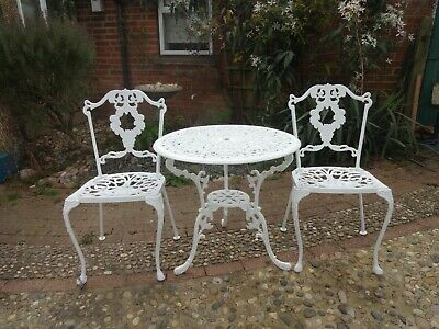 £185 • Buy Garden Furniture Set - Table And 2 Chairs - Cast Aluminium