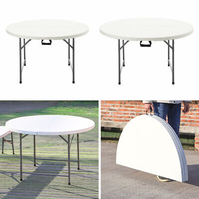 £99.95 • Buy 4/5/6ft Outdoor Folding Dinning Table Bench Portable Garden Camping TrestleChair