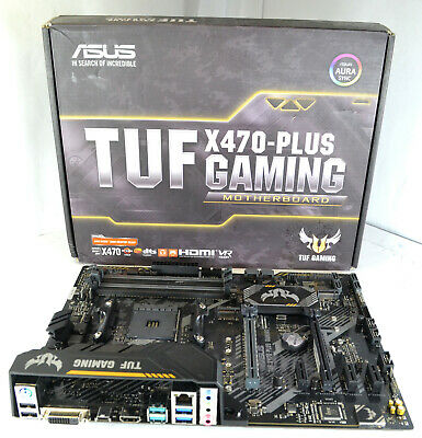 AU111.42 • Buy ASUS TUF X470-Plus Gaming AMD Socket AM4 Gaming Motherboard No I/O Shield