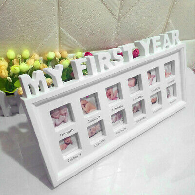 £15.34 • Buy Baby Photo Picture Frame Scan Boy Girl First Year Home Nursery Deco Gifts UK