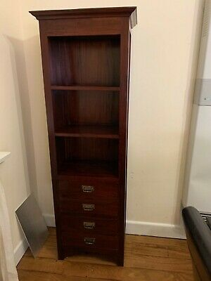 AU50 • Buy Wooden Furniture Bookcase With 4 Drawers