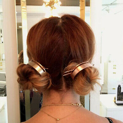 $ CDN4 • Buy For Girls Hair Clips Minimalist Hair Stick Ponytail Hoop Hairstyle Jewelry FB