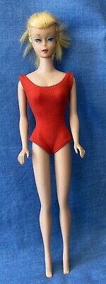 $ CDN225.56 • Buy Vintage 1964-65 Barbie 850 Swirl Ponytail Straight Leg Blonde Red Swimsuit