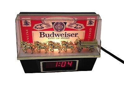 $ CDN72.55 • Buy Vintage 1981 Budweiser Bar Tavern Clydesdale Clock Register Sign