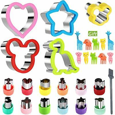 Olywee Sandwich Cutters Set For Kids Vegetable Fruit Cutter Shapes Mickey Mouse • 14.99£