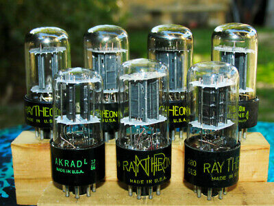 AU76.27 • Buy Raytheon 6SN7GT GTA GTB Seven Black Plate Square Getter Good/strong Used Tubes