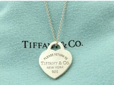 AU99 • Buy TIFFANY & CO Sterling Silver Return To Tiffany Small Heart Tag Pendant Necklace