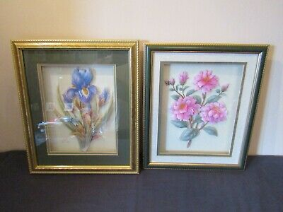£9.50 • Buy Assorted 3d Decoupage Framed Picture's Of Flowers Signed J. Hill 98 ( Choose ).