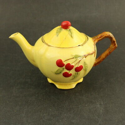 $ CDN8.64 • Buy Vintage Art Deco Royal Winton Grimwades Cherries Pattern Small Teapot A/F As Is