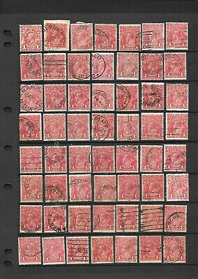 AU9.50 • Buy Stamps Australia Bulk 1d Red KGV Heads X 56 Good/Fine Used W/ 1 Engraved
