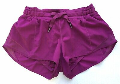 $ CDN21.97 • Buy Lululemon Magenta Hotty Hot Shorts Size 4 Reflective Sides, Tie Front, Lined