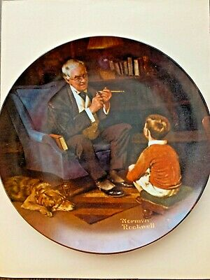 $ CDN1.24 • Buy The Tycoon Collector Plate By Norman Rockwell