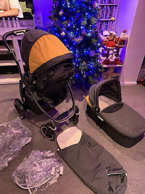 Great Graco Evo Xt Pram Pushchair Travel System With Carry Cot And Seat • 45£