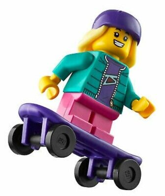 Lego Minifigure Skateboarder With Ramp From Set 60290 Brand New • 5£