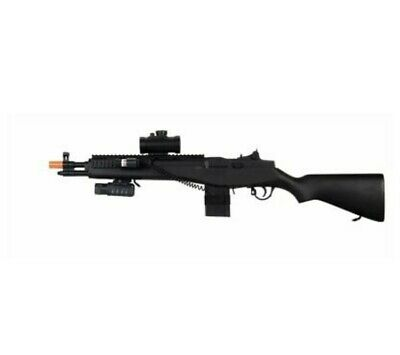 $35.88 • Buy Double Eagle M305P M14 Spring Airsoft Gun 350 FPS W/ Tactical Flashlight - Black