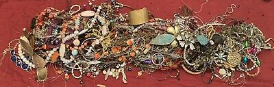 $ CDN53.97 • Buy Estate Costume Jewelry Lot Necklaces Bracelets Craft Scrap Vintage To Now 9 Lbs