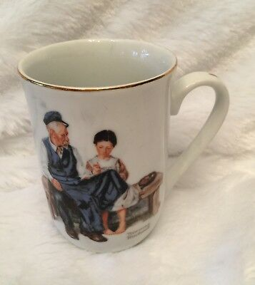 $ CDN5.01 • Buy Norman Rockwell Museum Mug Cup The Lighthouse Keeper's Daughter 1982 Vintage