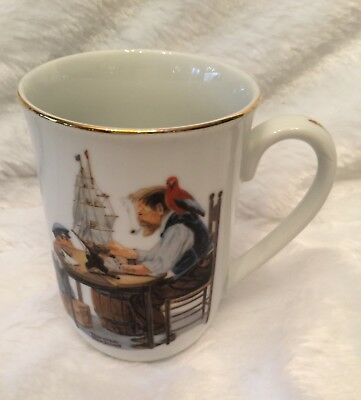 $ CDN5.01 • Buy Norman Rockwell Museum Mug Cup For A Good Boy 1982 Seal Of Authenticity Vintage