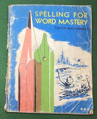 AU7.65 • Buy SPELLING FOR WORD MASTERY  WELL USED Charles E Merrill School Book 1956