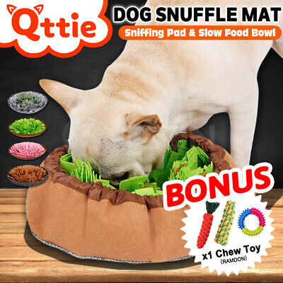 AU24.95 • Buy Dog Pet Snuffle Mat Nose Training Sniffing Pad Toys Feeding Cushion Blanket Game