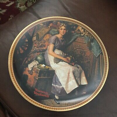 $ CDN25.06 • Buy Norman Rockwell Plates Rediscovered Women  Dreaming In The Attic