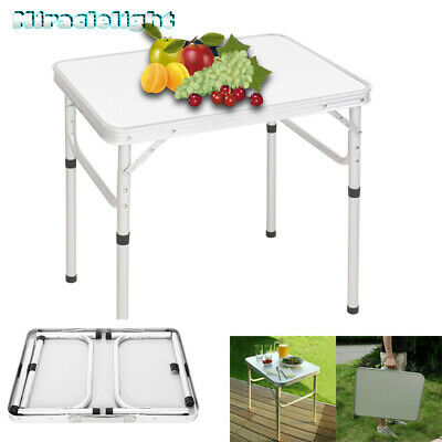 £23.95 • Buy Portable Folding Camping Table Aluminium Carry BBQ Desk Kitchen Outdoor Picnic