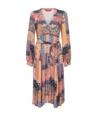 AU35 • Buy TIGERLILY- TEJANO WRAP DRESS Womens Size Au 14 Patchwork