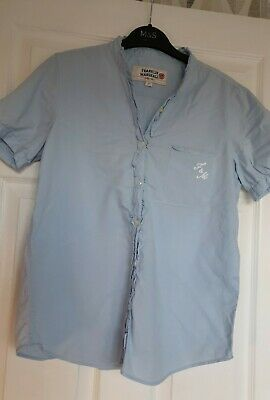 Great Condition Franklin Marshall Blue Short Sleeved Blouse Top Size Large... • 2£