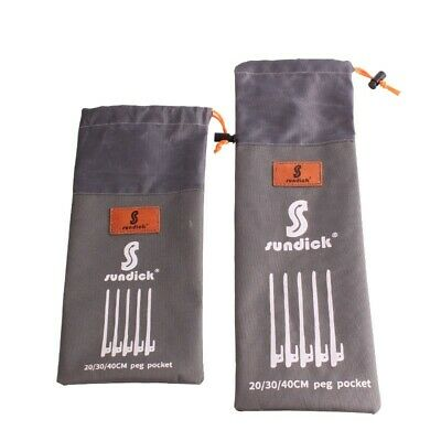 AU11.46 • Buy 1Pc Tent Peg Storage Bag Hiking Camping Ground Nail Stakes Outdoor Waterproof
