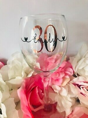 £6.50 • Buy Personalised Birthday Gift Wine Glass 18th,21st,30th,40th Gift For Her Any Name