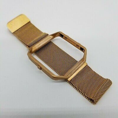 AU5.41 • Buy Fitbit Blaze Accessory Band With Milanese Loop Magnetic - Gold Tone