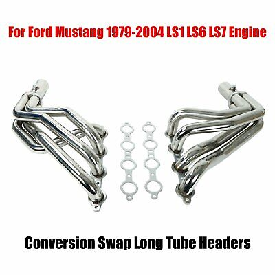 $169.78 • Buy LS1 LS6 LS7 Engine Conversion Swap Long Tube Headers For Ford Mustang 1979-2004