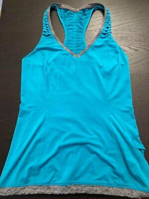 $ CDN18.73 • Buy 4 LULULEMON RUN ENERGY SINGLET SILVERESCENT  Teal Blue Green Tank
