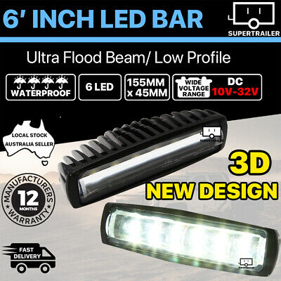 AU25.95 • Buy Pair 6inch Cree LED Work Light Bar Flood Beam Lamp Reverse Offroad 4x4 4WD