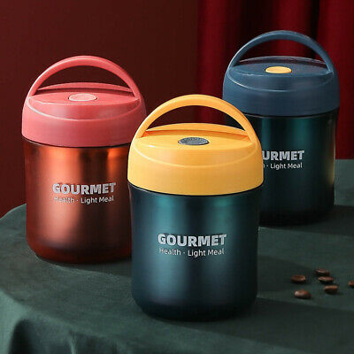 AU21.76 • Buy Insulated Food Thermos Hot Soup Container Stainless Vacuum Lunch Box Jar AU