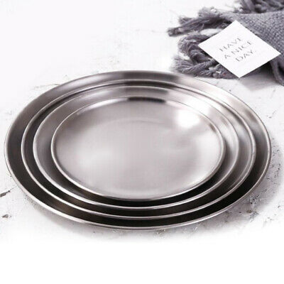 £4.99 • Buy Picnic Plates Stainless Steel Thick Plate Salad Plates