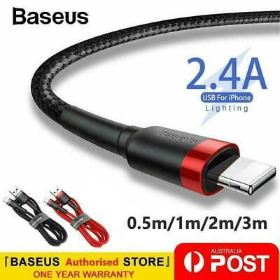 AU6.99 • Buy Baseus USB Braided Charging Cable Cord For IPhone 12 11 6 7 8 Plus XS XR XS Max