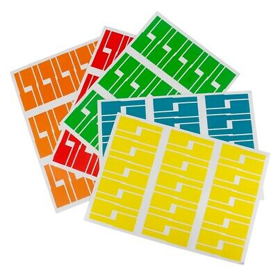 £3.49 • Buy 150 Self-adhesive Cable Wire Labels Identification Markers Tags Sticker 5 Colour
