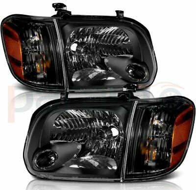 $146.08 • Buy Fits Toyota Tundra 05-06 Sequoia 07 Replace Headlights Assembly Black Lamps Pair
