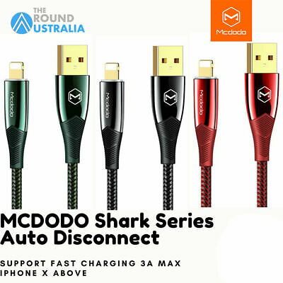 AU11.99 • Buy Mcdodo 3A LED Auto Disconnect USB Charging Data Cable Cord For IPhone IPad IOS