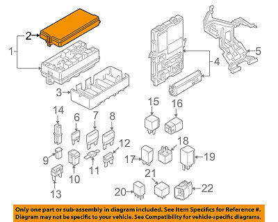 $35.64 • Buy FORD OEM 05-09 Mustang 4.6L-V8 Fuse Box-Cover 6R3Z14A003A