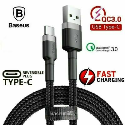 AU7.49 • Buy Genuine BASEUS USB TYPE-C Fast Charger Charging Data Sync Cable Cord Samsung AU